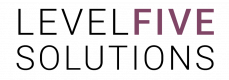 LevelFive Solutions- Current Updated Amended Logo Artwork (Without Icon) (Cropped Version)